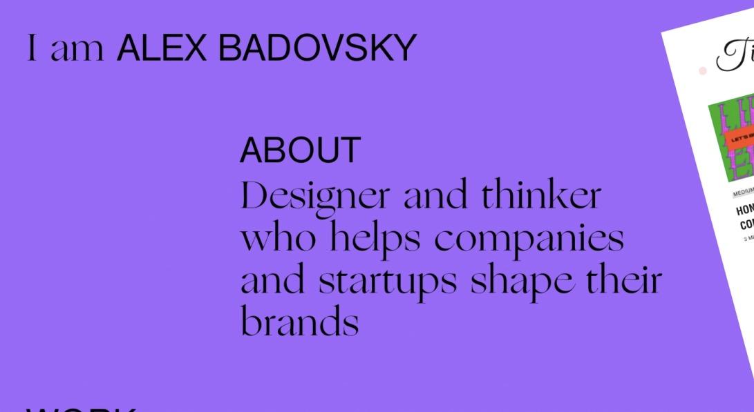 Alex Badovsky — design and art direction