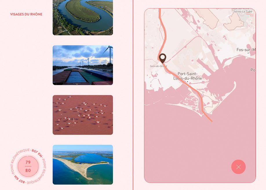 Visages du Rhone - Map image gallery
