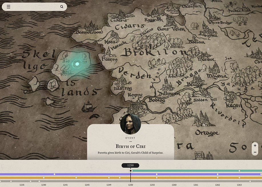The Witcher - Map of the Continent