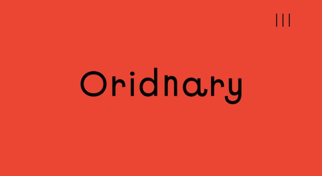 Oridnary — Challenge Ordinary