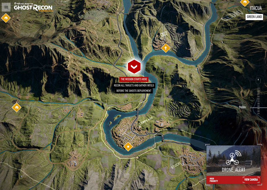 Hype-realistic landscape interactive map game