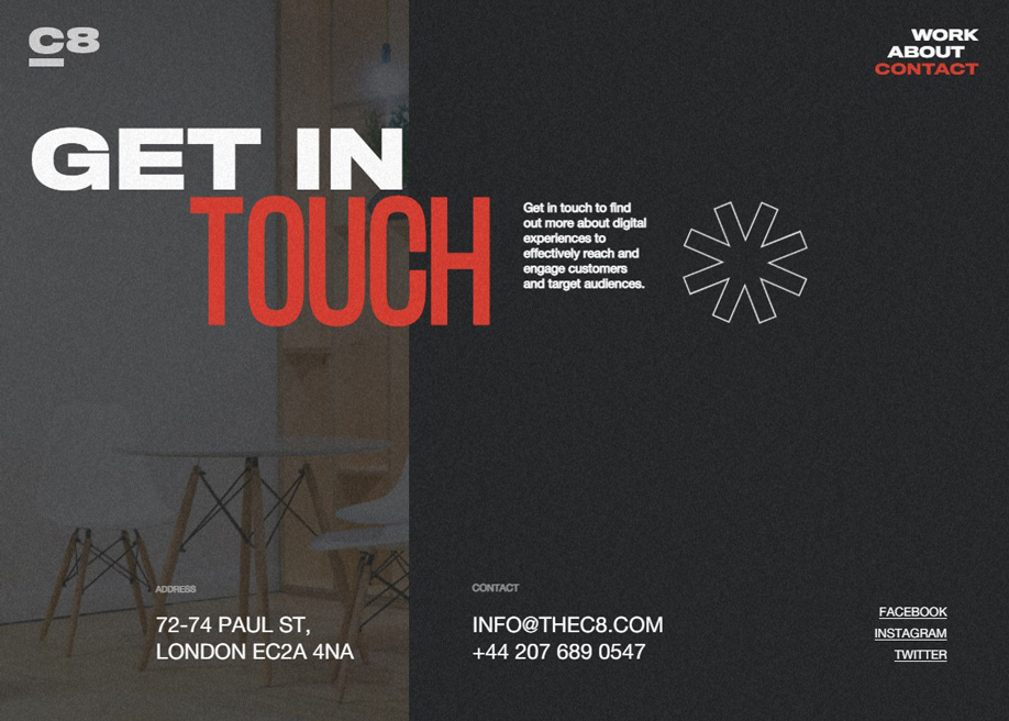 CRE8TIVE Agency - Contact page