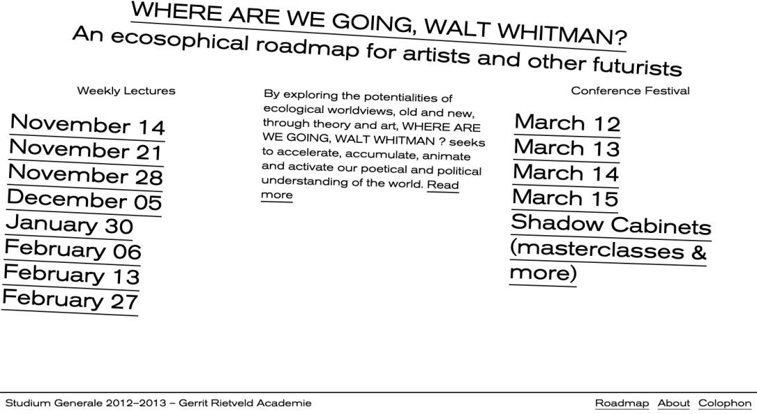 Where Are We Going, Walt Whitman?