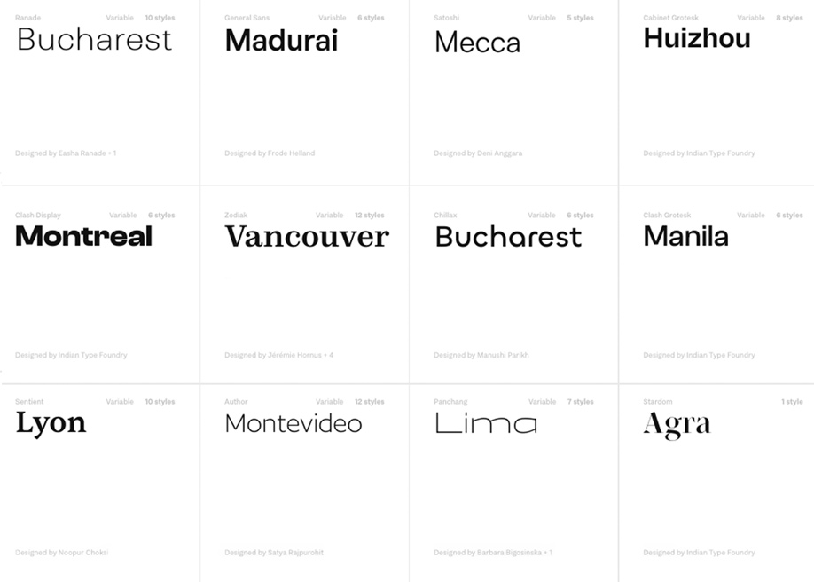 Fontshare - Free fonts Type Foundry
