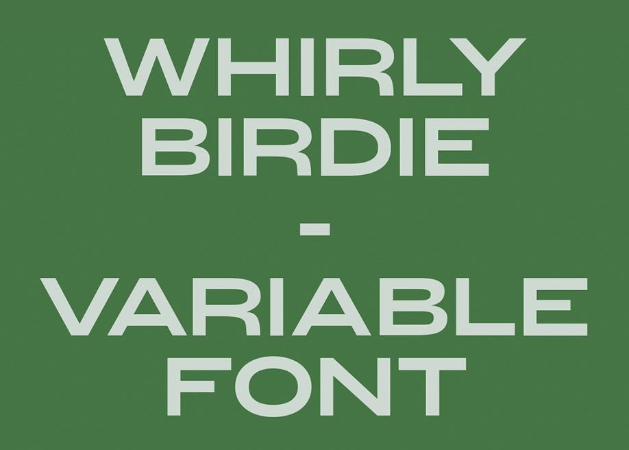 Whirly Birdie Typeface