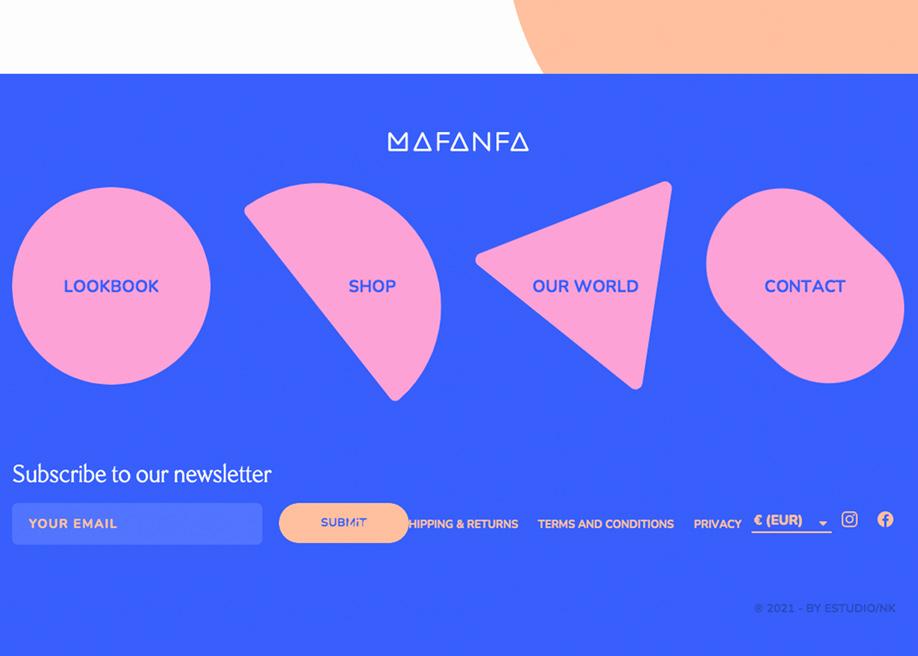 Mafanfa - Footer design
