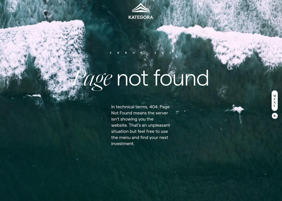 Kategora - 404 error page