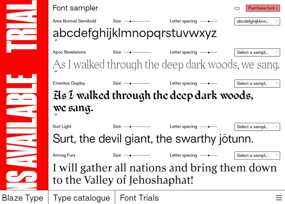 Blaze Type - Typefaces Foundry