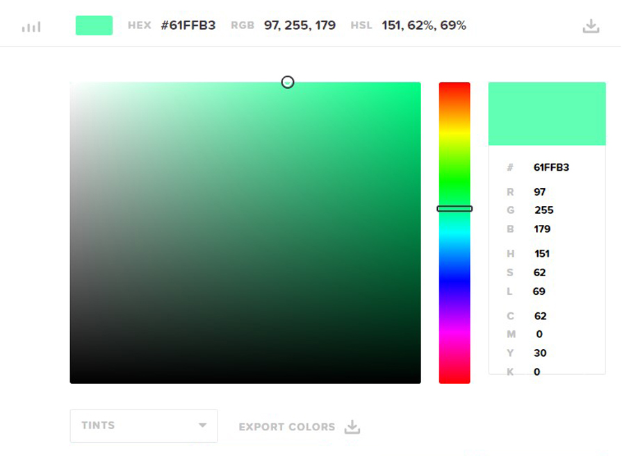 HTML color codes - Hex color codes, RGB and HSL generator