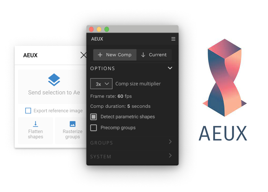 AEUX - Plugin that exports all Sketch and Figma layers to After Effects.