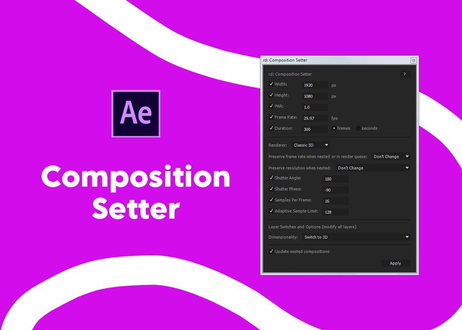 RD Comp Setter - After Effects composition setter