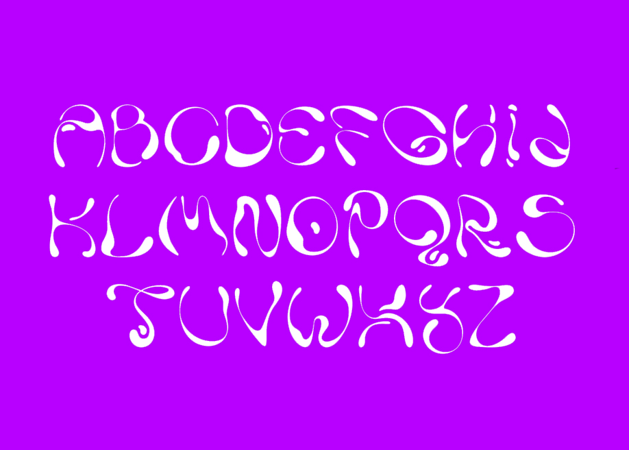Ladi - Based on liquid forms free font