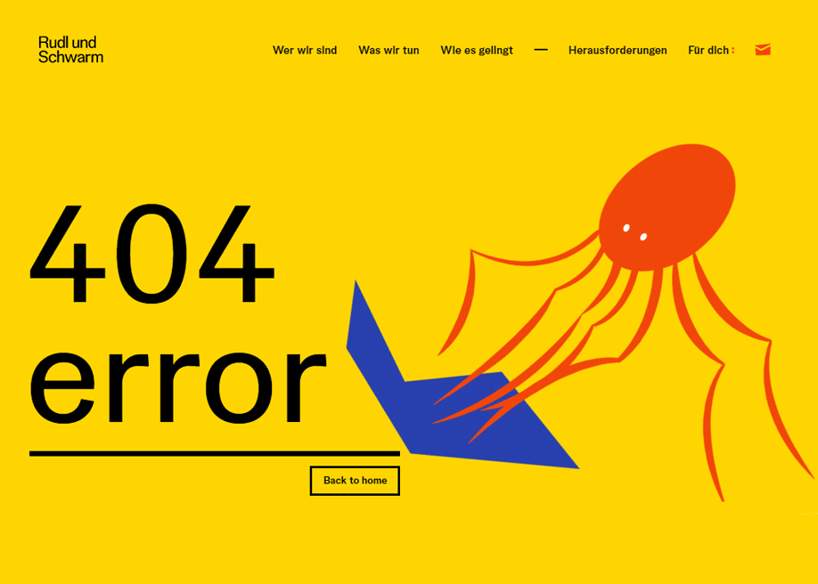 Rudl and Schwarm - 404 error page