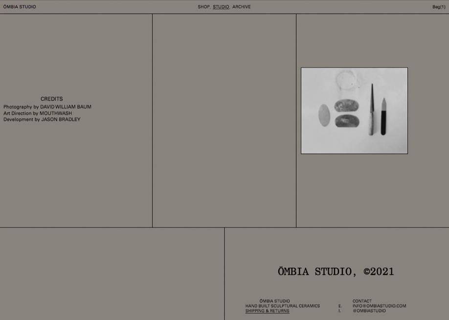 Ombia Studio - Footer design