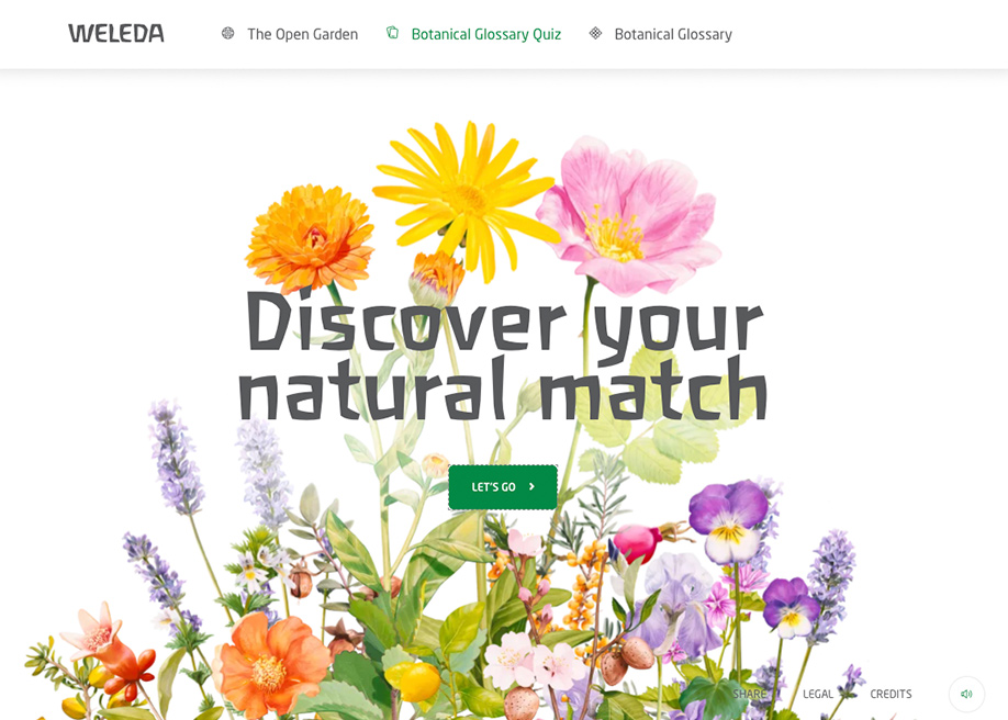 Weleda The Open Garden - Botanical Glossary Quiz