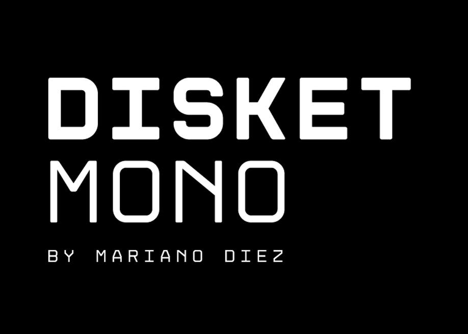 Disket Mono - Display monospaced, grid based typeface