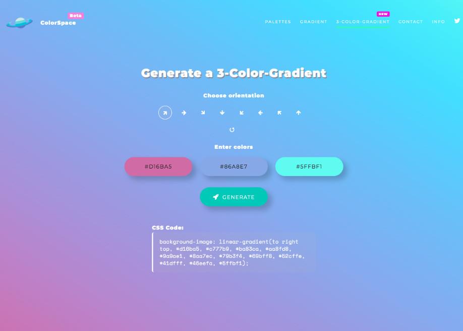 Color Space Gradient Generator