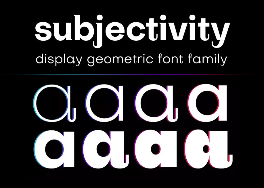 Subjectivity - Display geometric font family