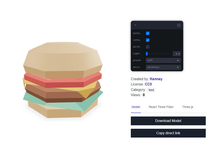 pmndrs market - web ready 3D assets