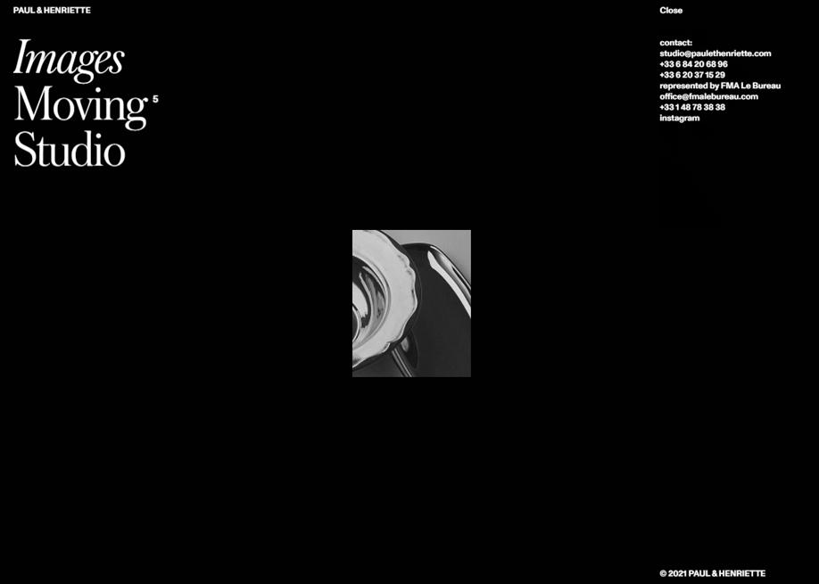 Paul & Henriette - Minimal menu design