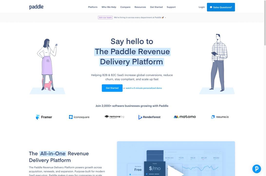 Paddle - Revenue Delivery Platform for SaaS