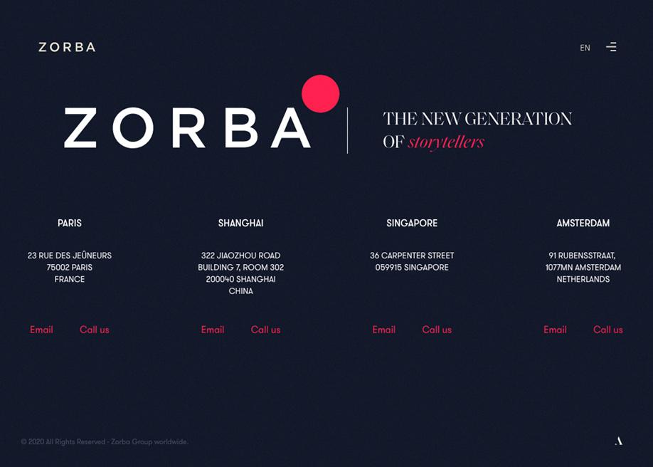 Zorba - Footer