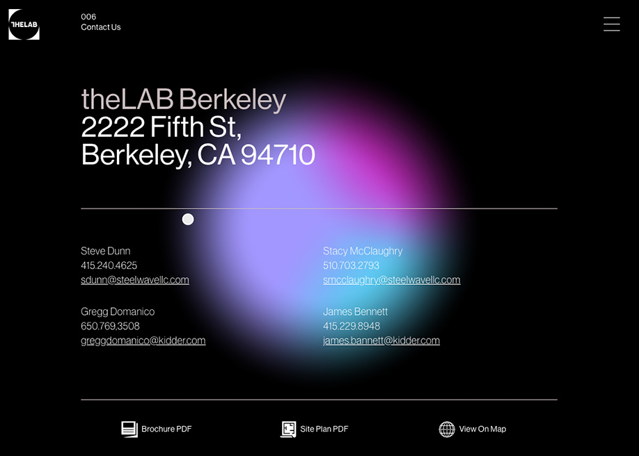 theLAB Berkeley - Contact page
