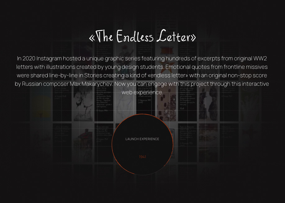 The Endless Letter - Interactive web experience WW2 letters collection
