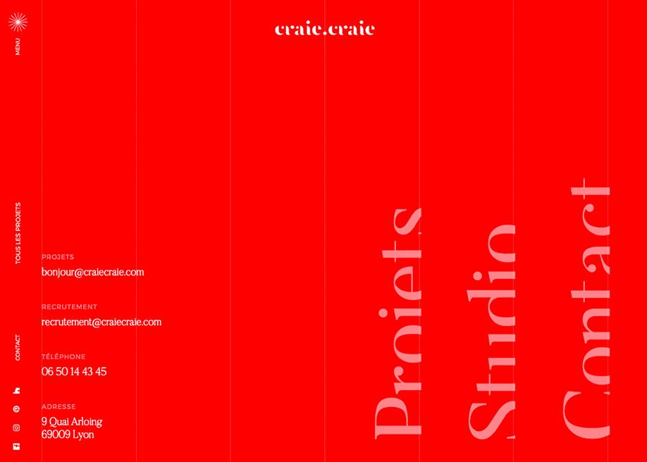 Craie Craie - Overlay menu