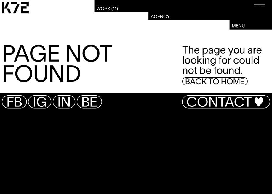 k72 - 404 error page