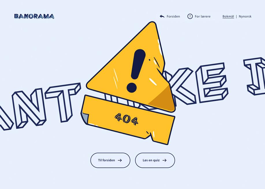 Banorama - 404 error page