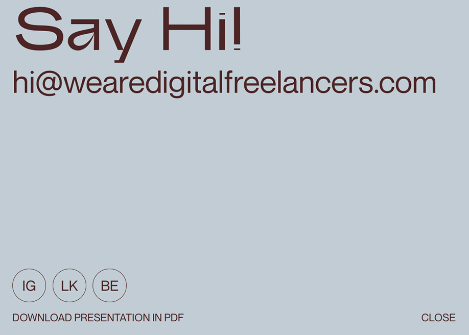 We Are Digital Freelancers - Contact page