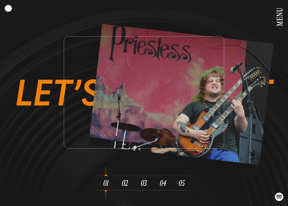 Priestess - Circular image slideshow