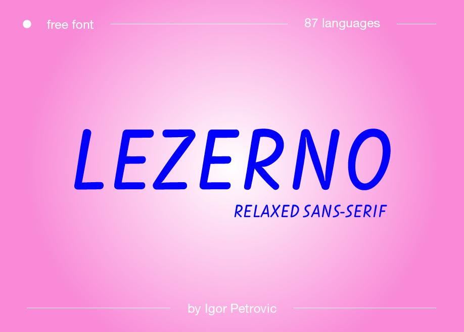 Lezerno - Uppercase Free Font
