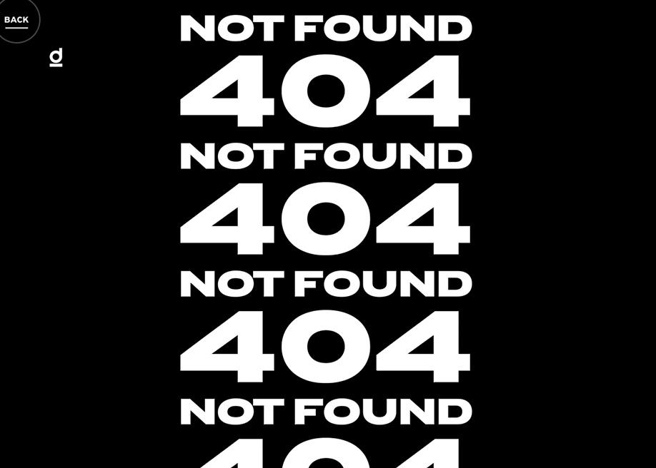 Dillinger - 404 error page