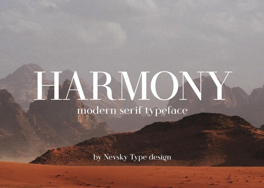Harmony - Free Serif typeface
