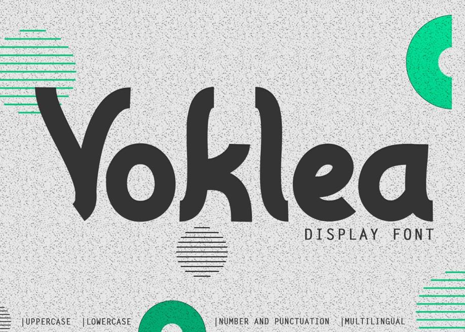 Voklea - Free Display Font