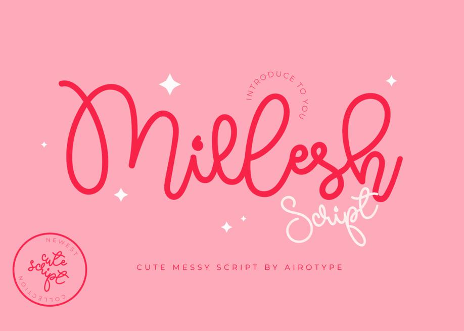 Millesh Script - Quirky Monoline Handwritten Font