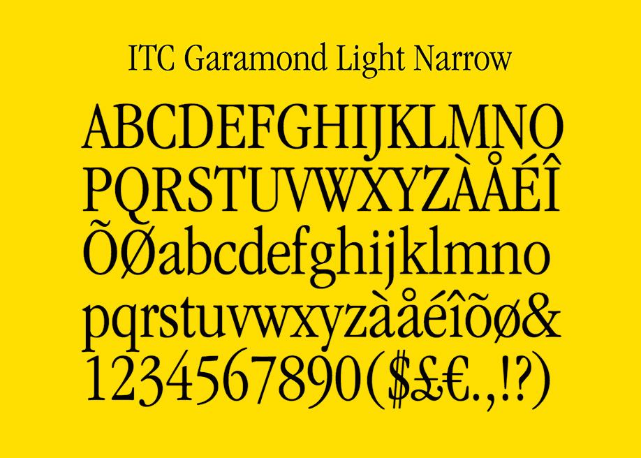 ITC Garamond Light Narrow