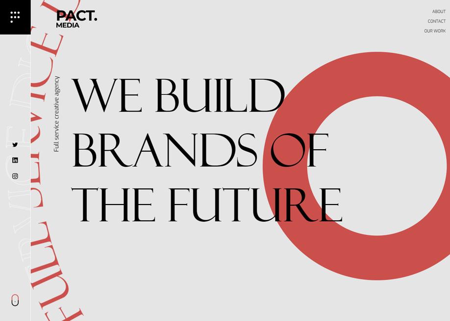 PACT.media - Hero typography