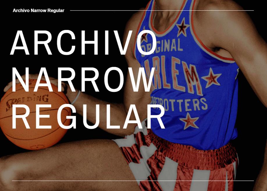 Archivo Narrow Regular - Free Font