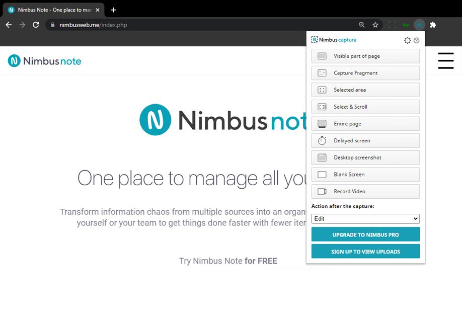 Nimbus - Screenshot & Screen Video Recorder Chrome Extension