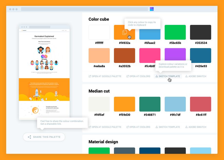 Site Palette - Chrome extension