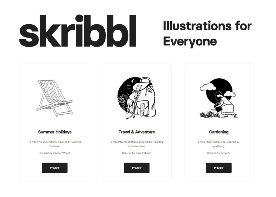 Skribbl - Freely Usable Hand-Drawn Illustrations