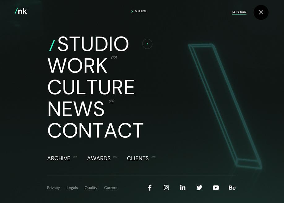 estudio/nk ® - Overlay menu