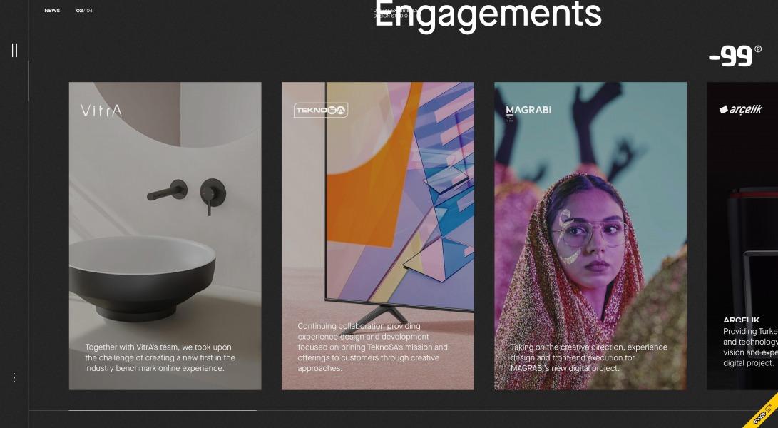 -99® design studio   Digital experience design studio