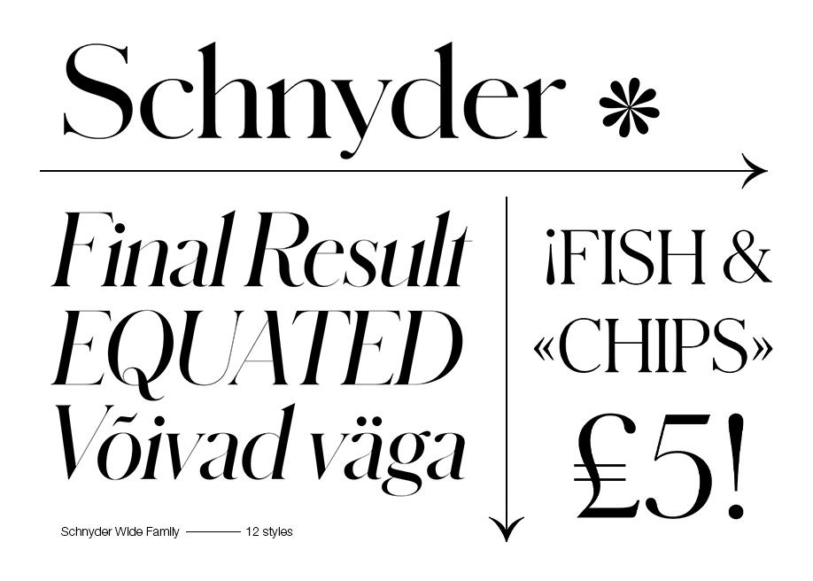 Schnyder Font Family
