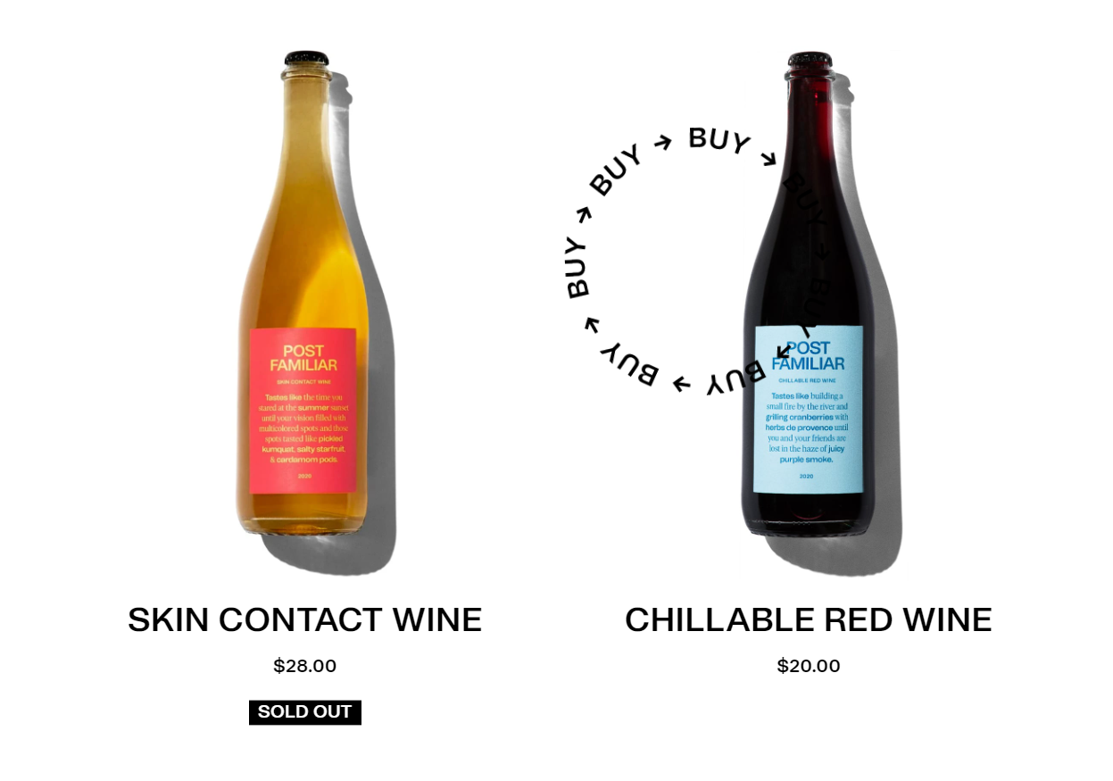Post Familiar Wine - Ecommerce
