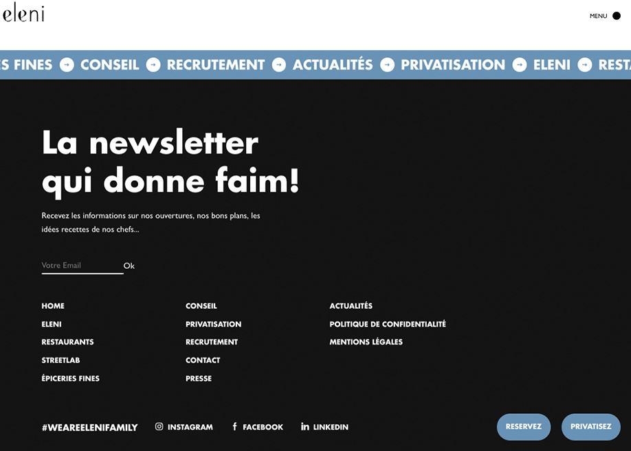 Eleni Group - Footer