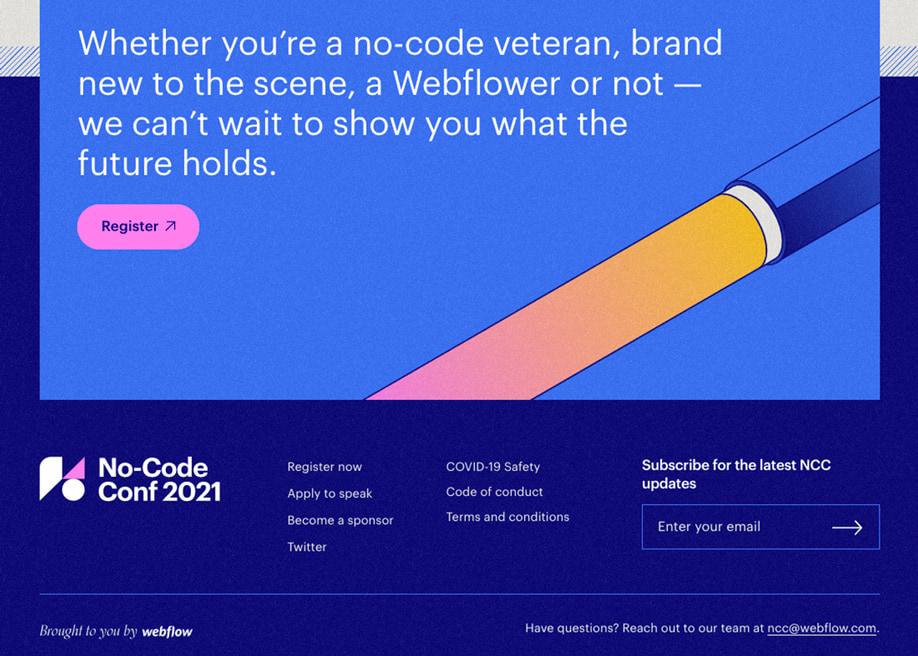 No-Code Conf 2021 - Footer